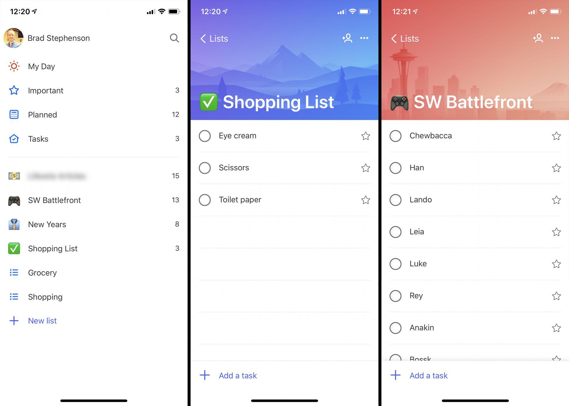 Microsoft To-Do productivity app on iPhone.