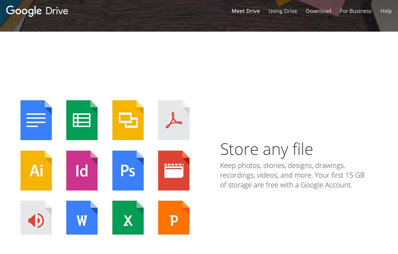 Google Drive cloud storage