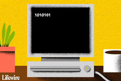 A computer screen with