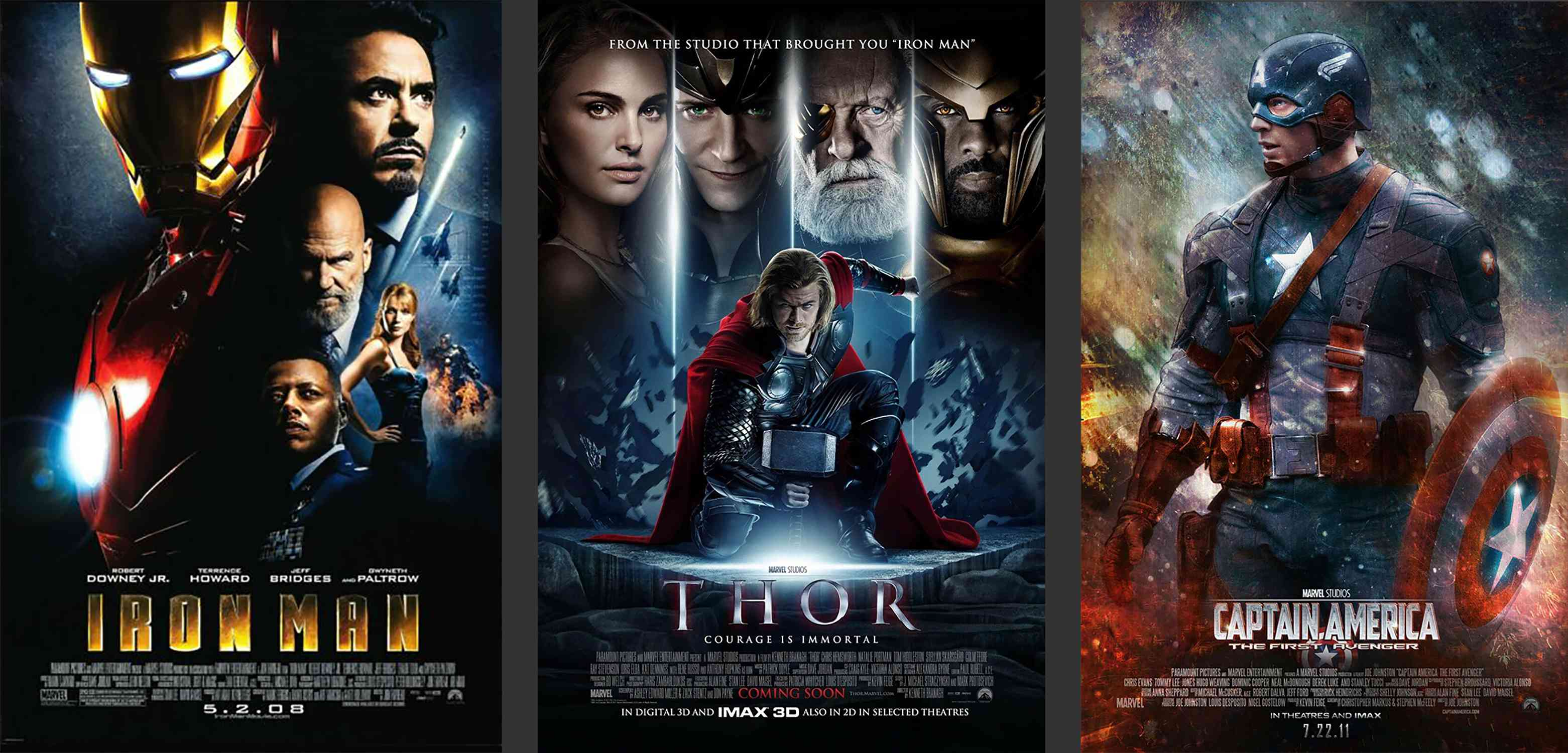 marvel phase 1 movie posters