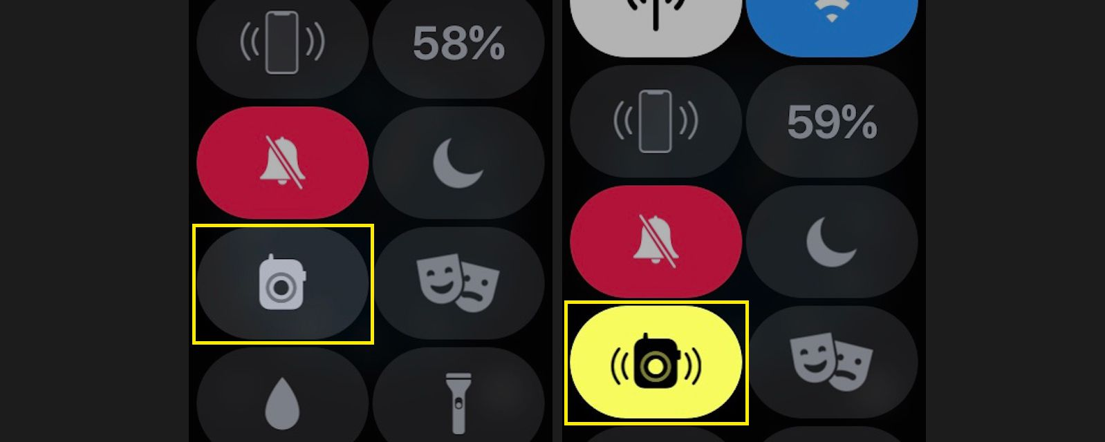 Tap the Walkie Talkie to set your walkie-talkie availability on or off.