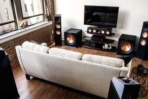 Home theater set up with Klipsch speakers