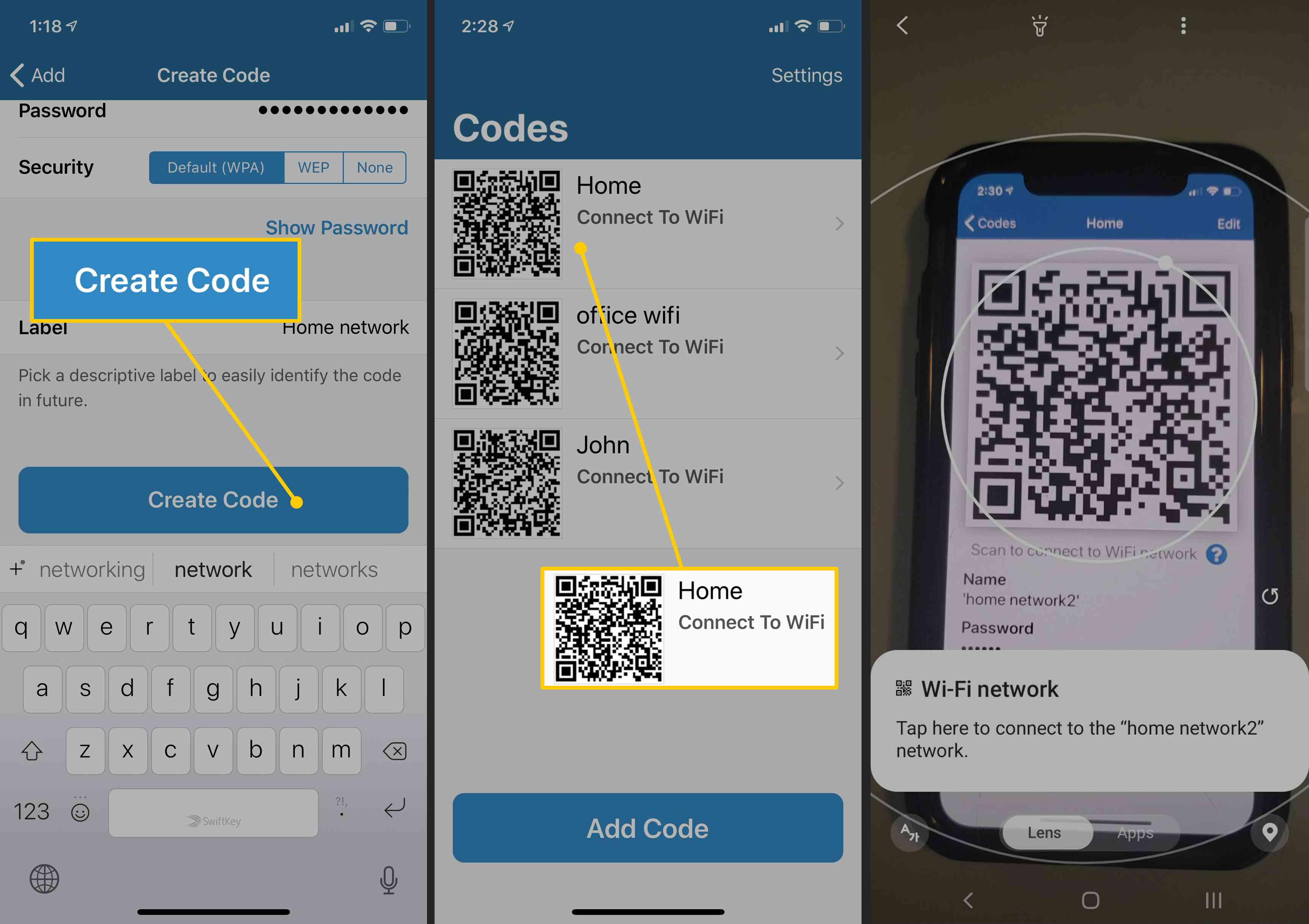 How To Share A Wi Fi Password From Iphone To Android