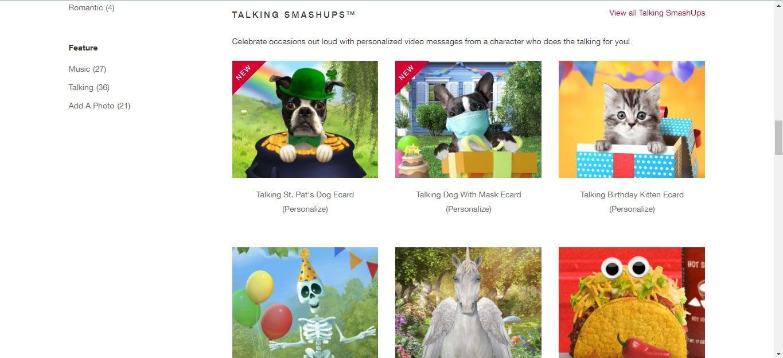 American Greetings video cards website