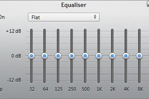 iTunes Equalizer as shown in the software