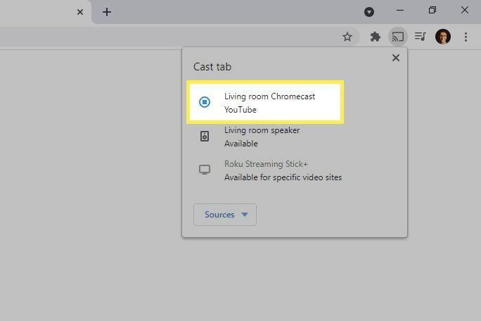 YouTube listed as Chromecast stream in Chrome