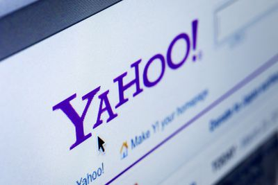 Closeup of Yahoo Website