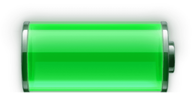 Screenshot of the iPhone Battery Windows 7 gadget