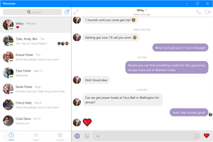 Screenshot of Facebook Messenger for Windows 10