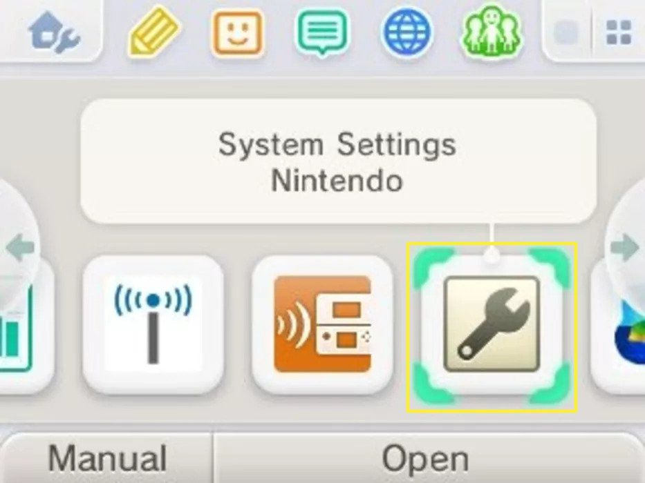 System Settings on the Nintendo 3DS Home menu