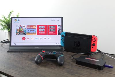 Recording gameplay from a Nintendo Switch.