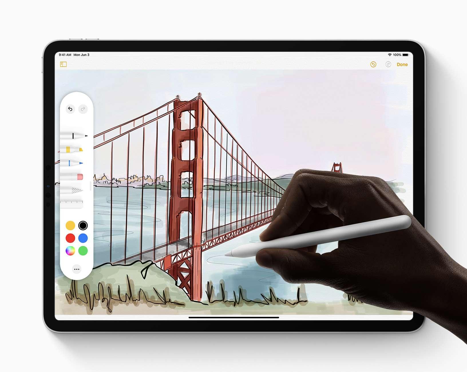 Apple Pencil and iPadOS 13 panel