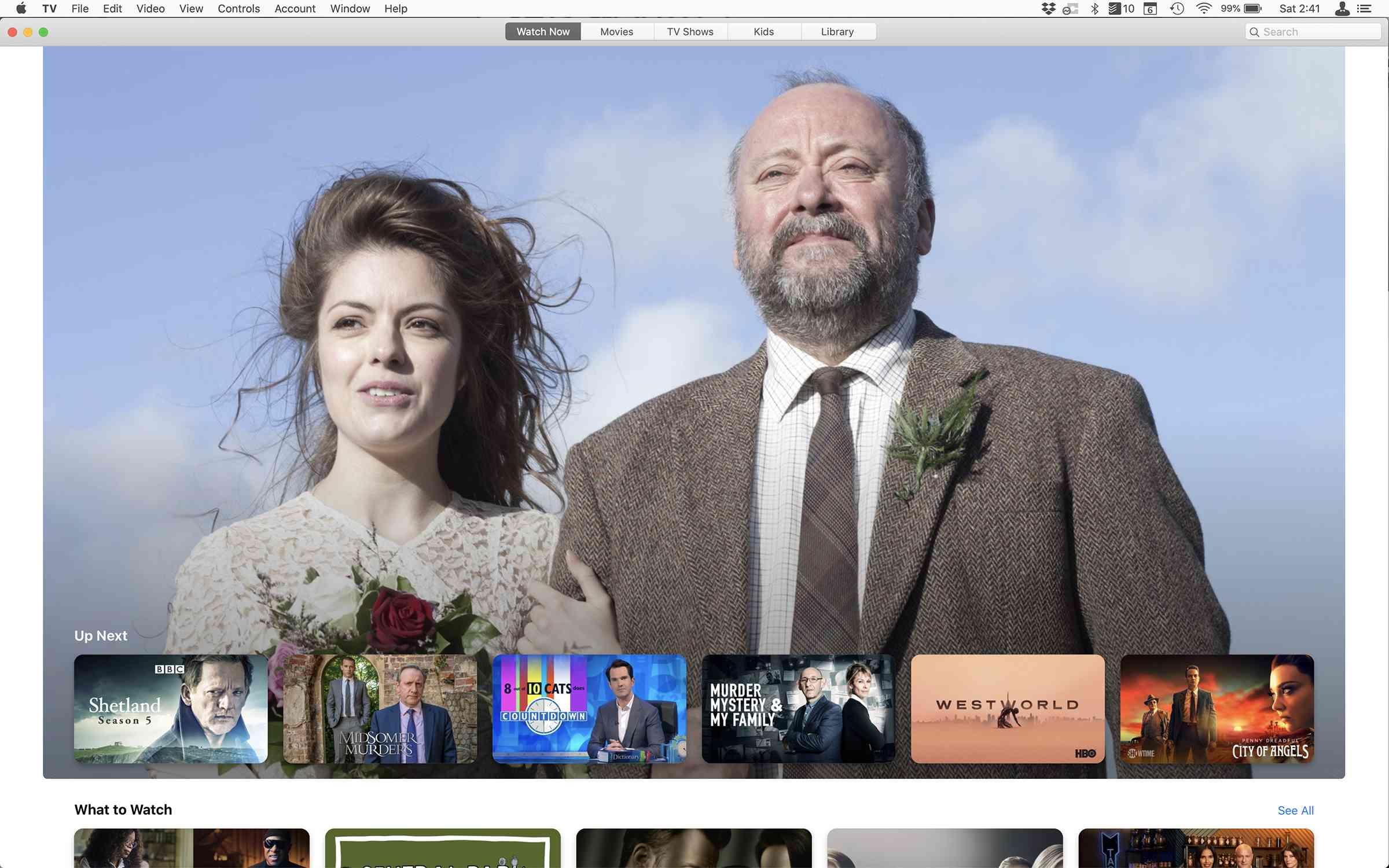 screenshot of the Apple TV app on Mac