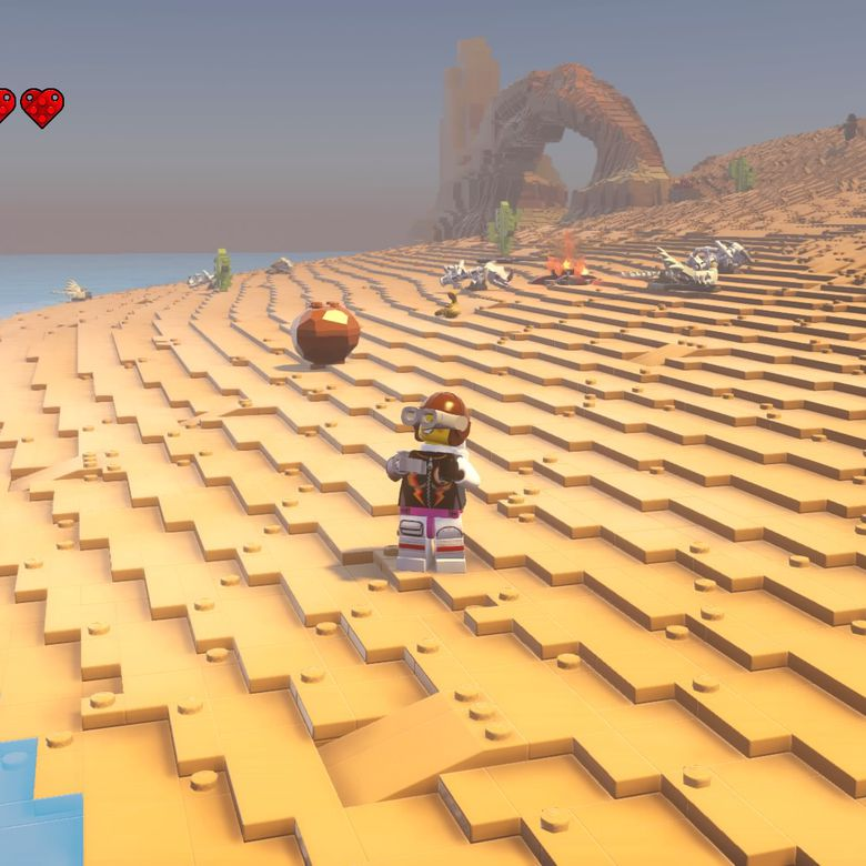 lego worlds review: fun exploration with clunky controls