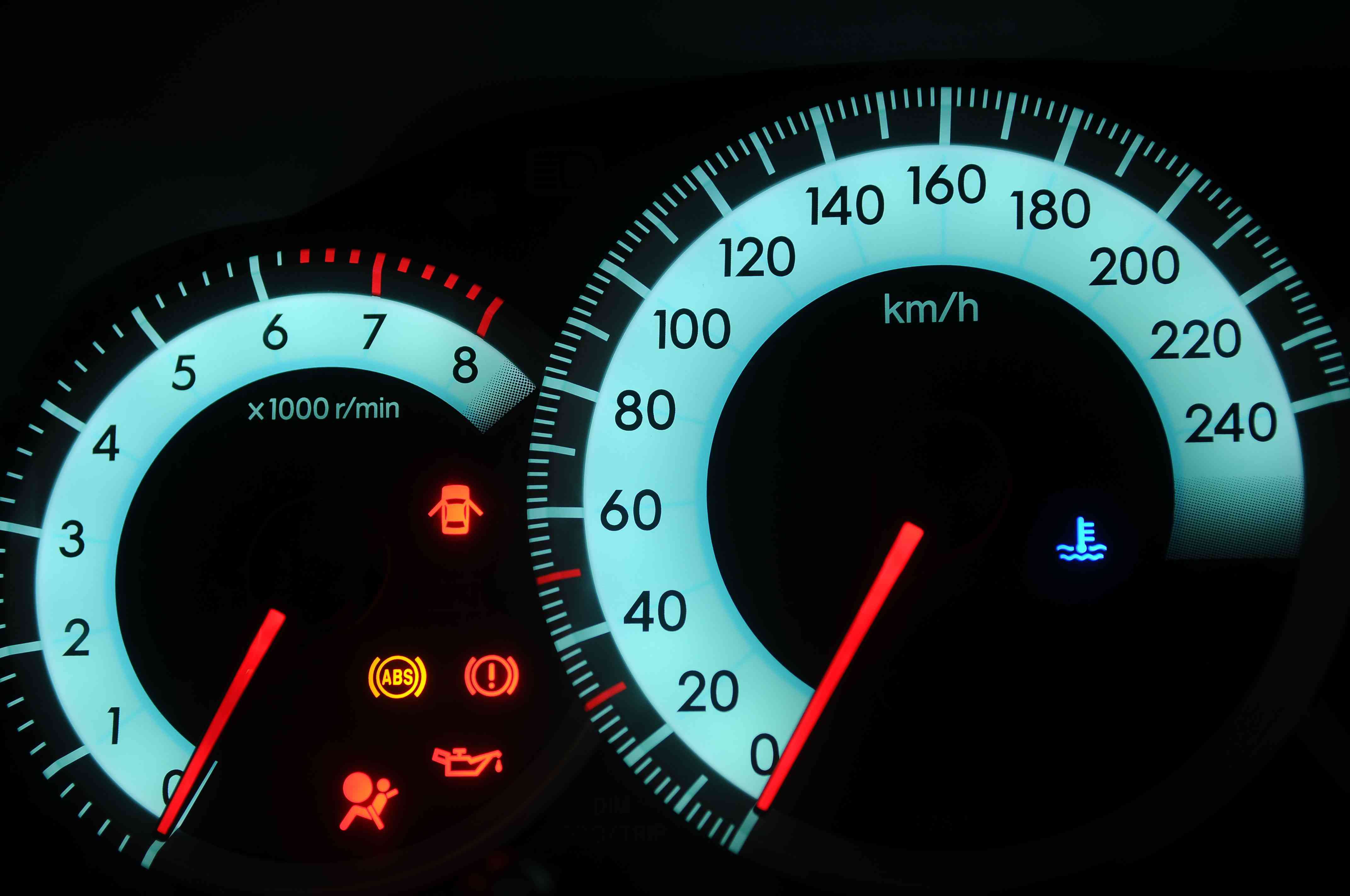 Dashboard lights and icons