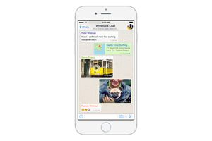 WhatsApp conversation iPhone