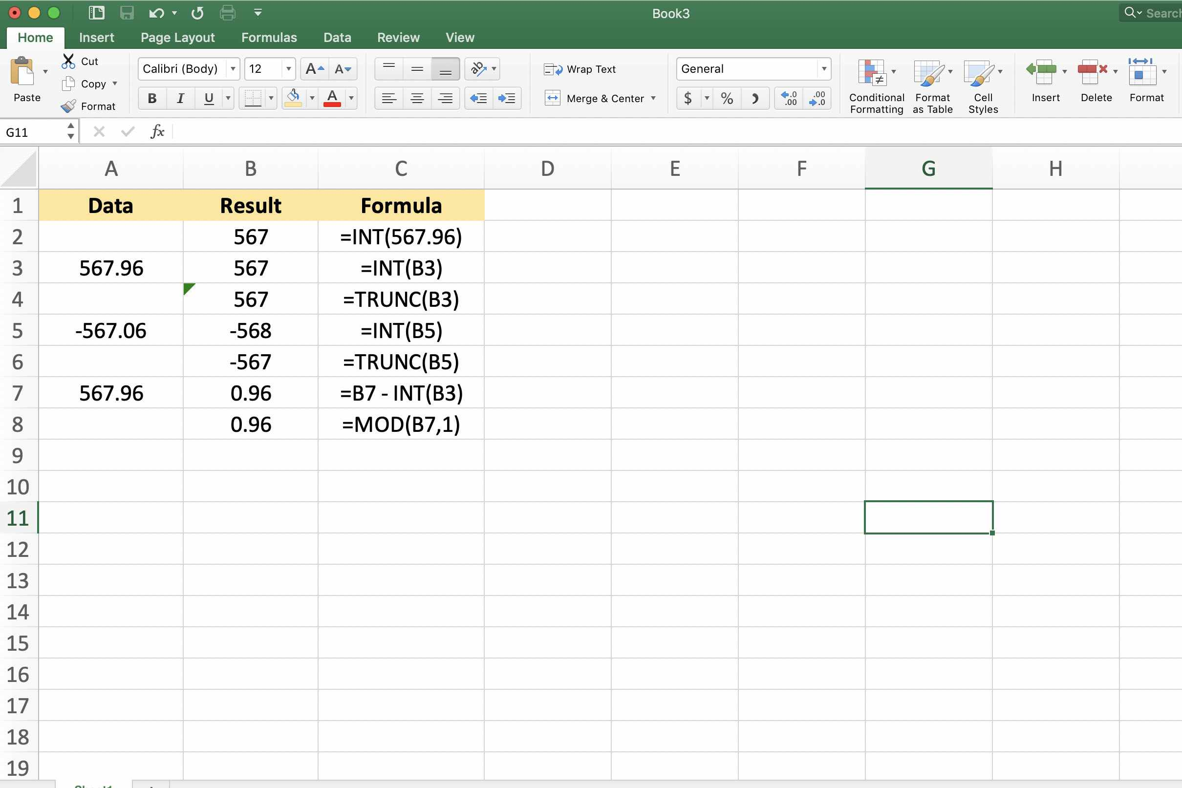 excel integer function   Search for a good cause