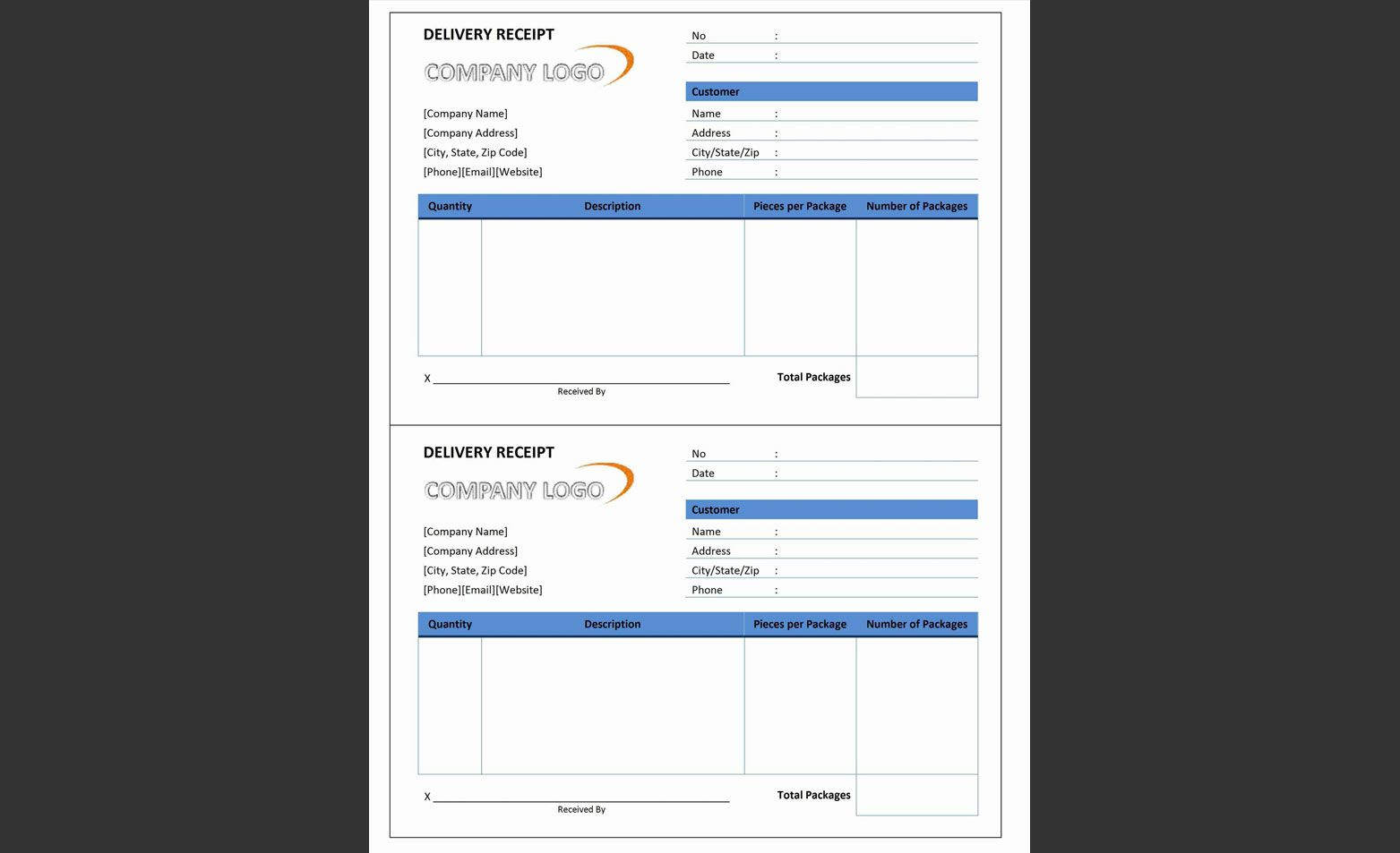 17 Best Free Receipt Templates For Microsoft Word