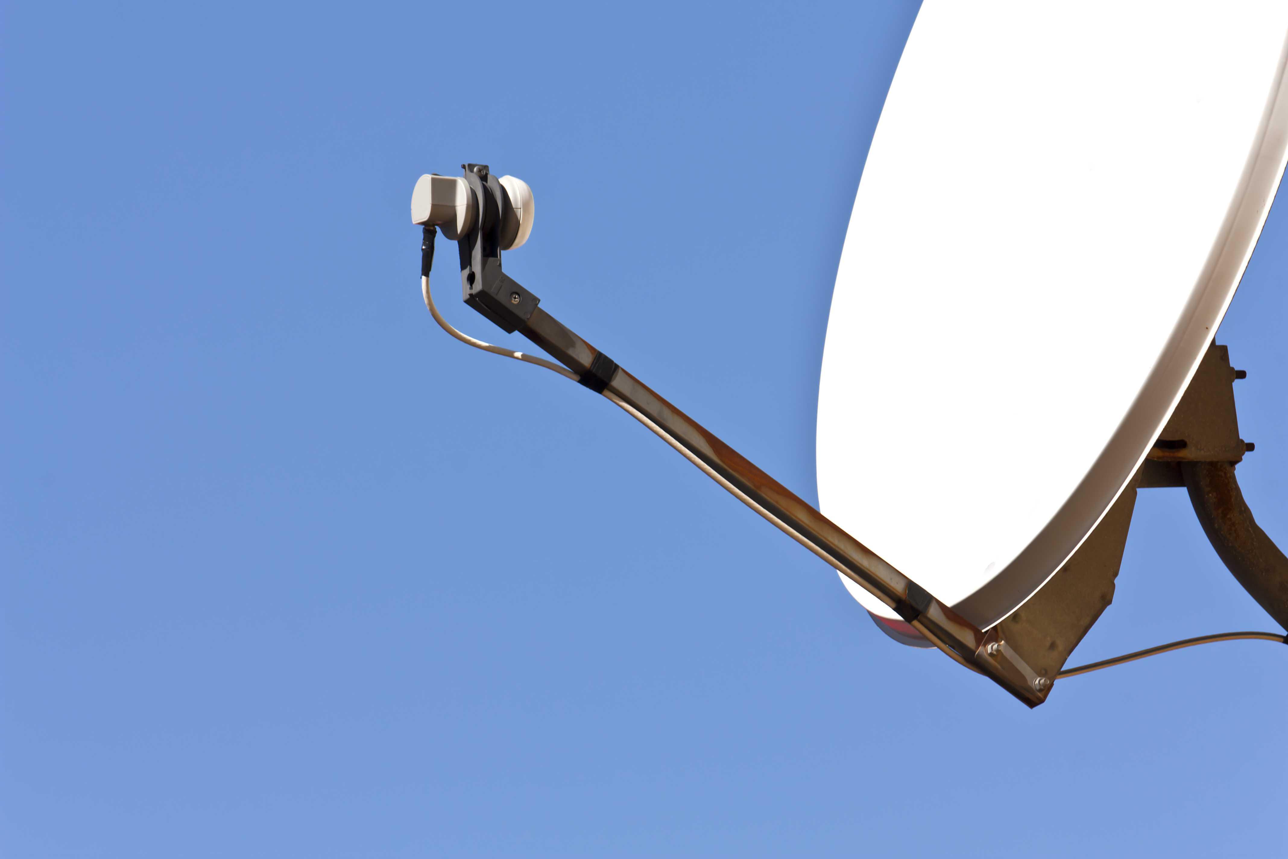 A home satellite dish