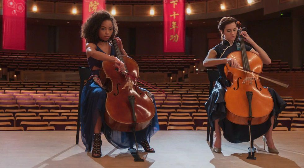 Logan Browning and Allison Williams play violin in The Perfection