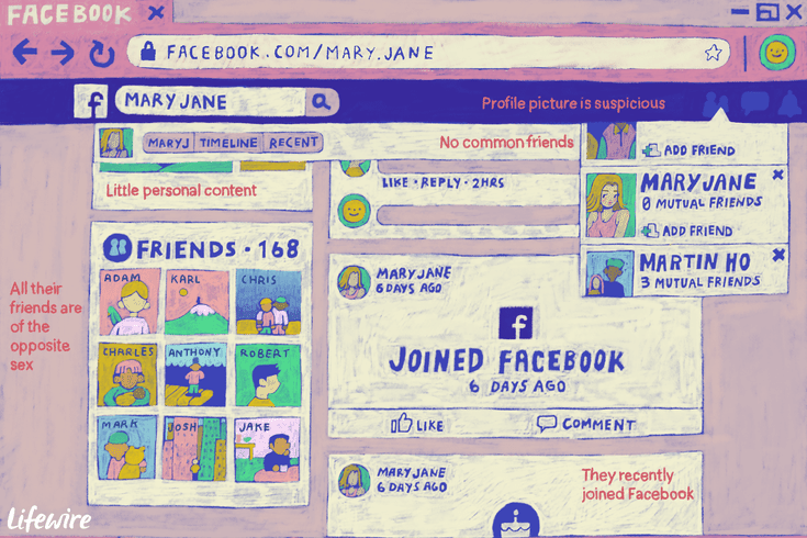 How to Spot a Fake Friend Request