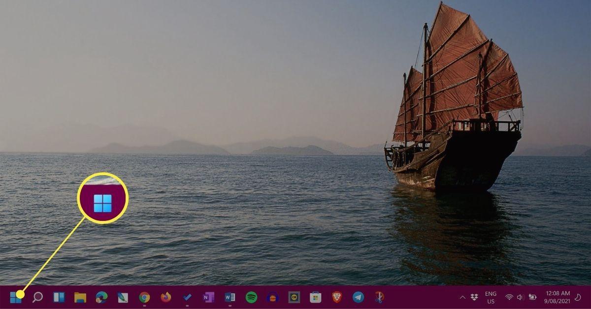 Start button in Windows