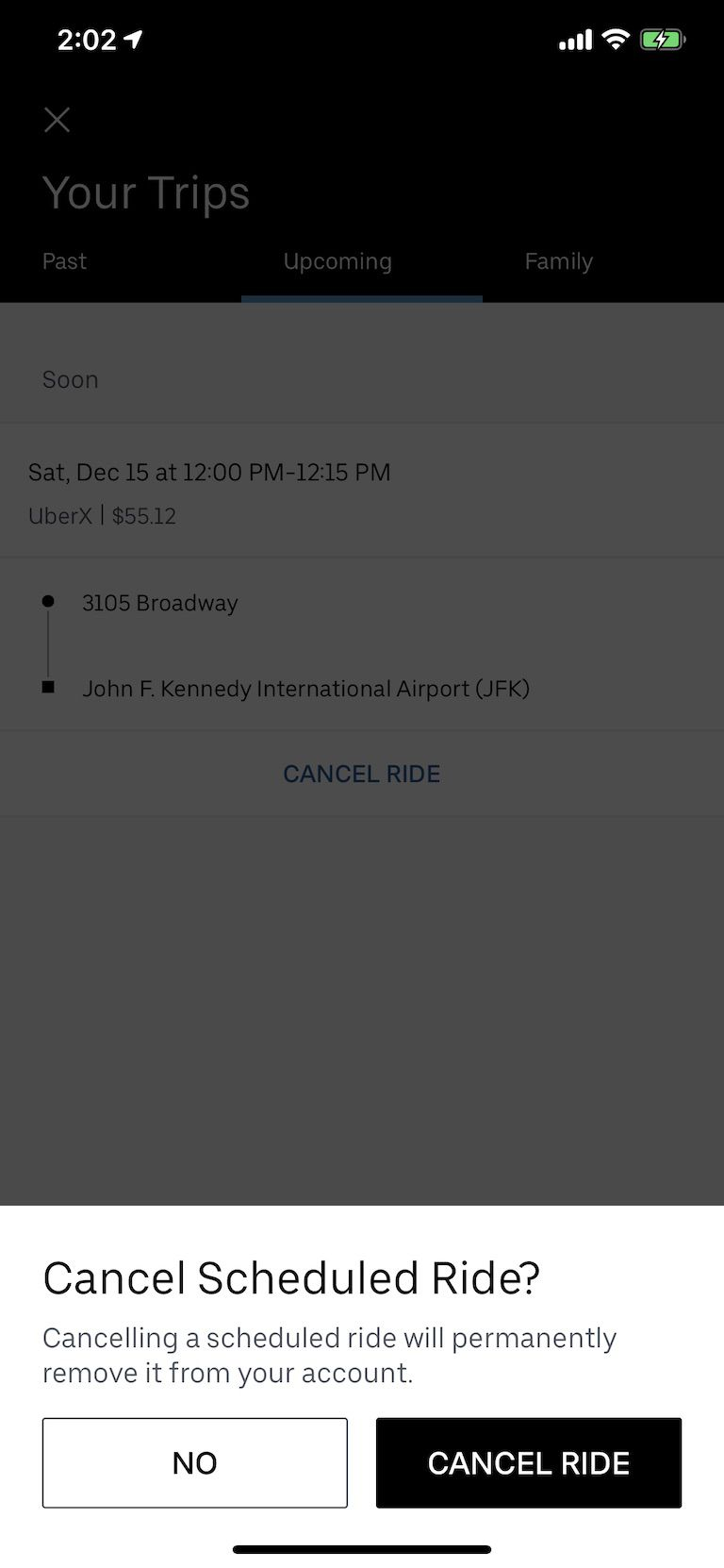 how to schedule uber in advance