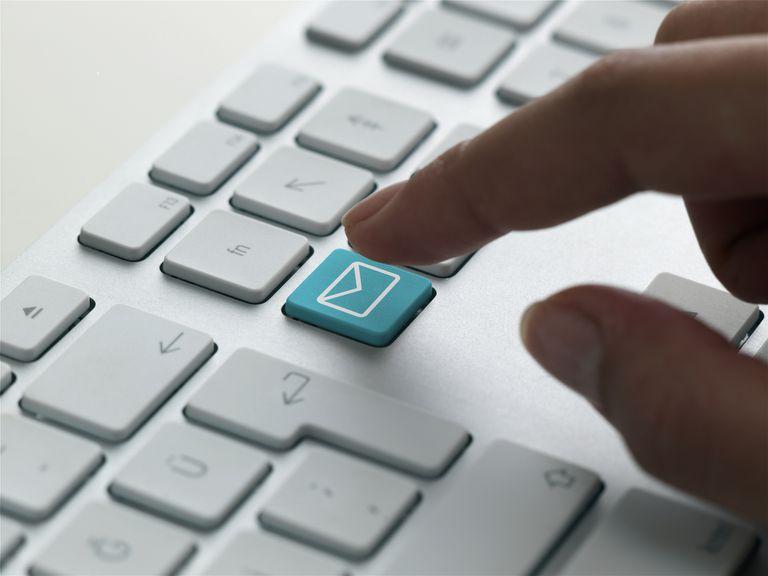 Email logo on key on keyboard