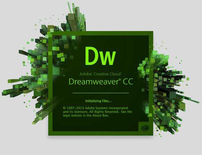Opening screen of Dreamweaver CC