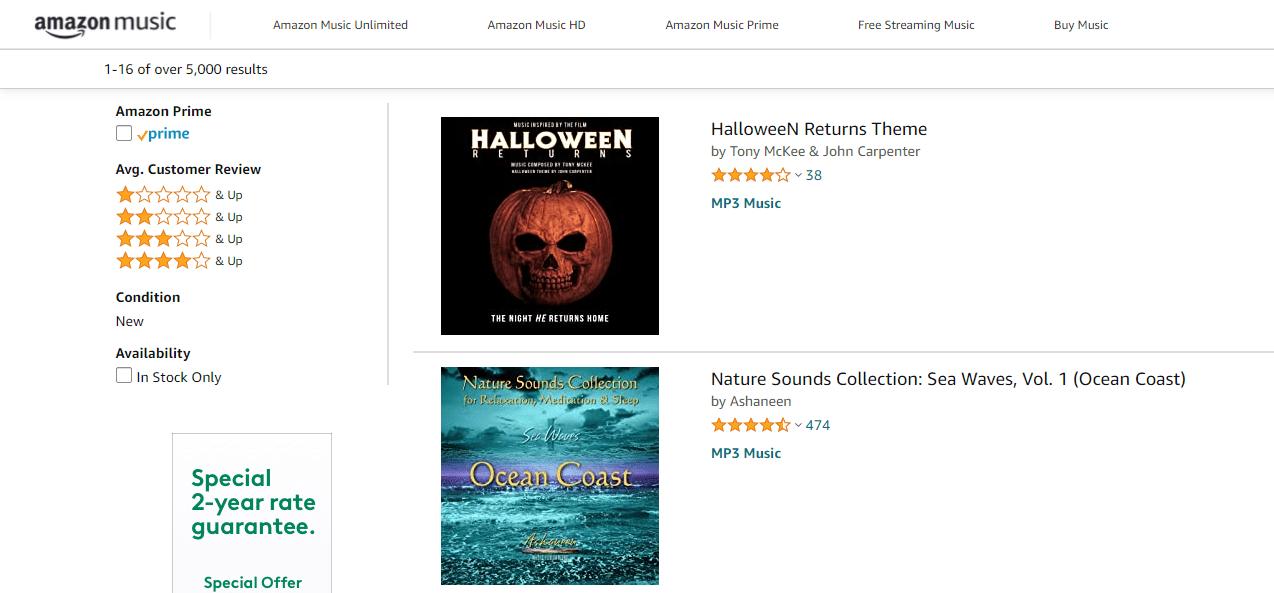 Free music downloads on Amazon