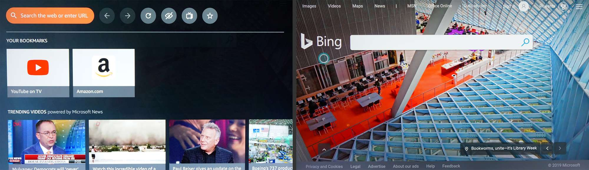 Fire TV – Silk Web Browser with Bing Search