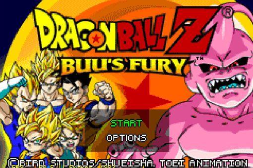 Dragon Ball Z Buu's Fury for GBA title screen