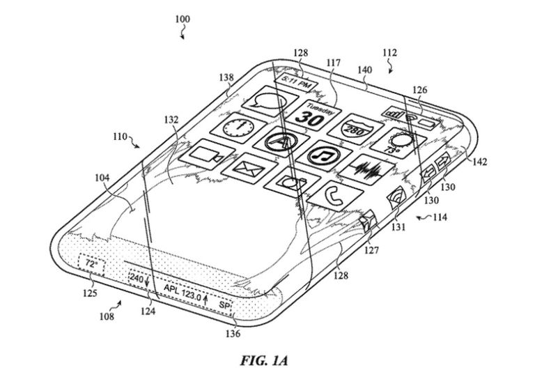 Apple iPhone patent showing lack of buttons or ports