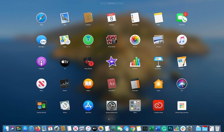 Launchpad on macOS Catalina