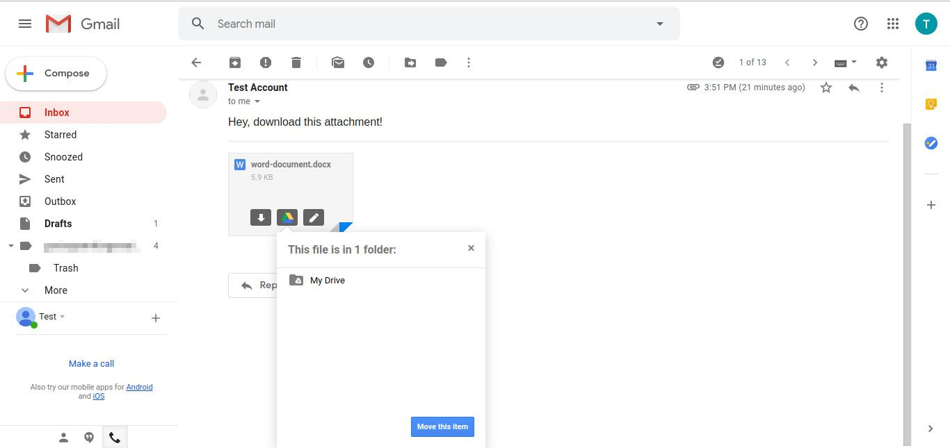 How to Save Attachments to Google Drive from Gmail