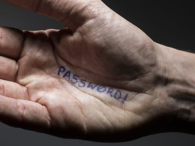 Hand with password written on it