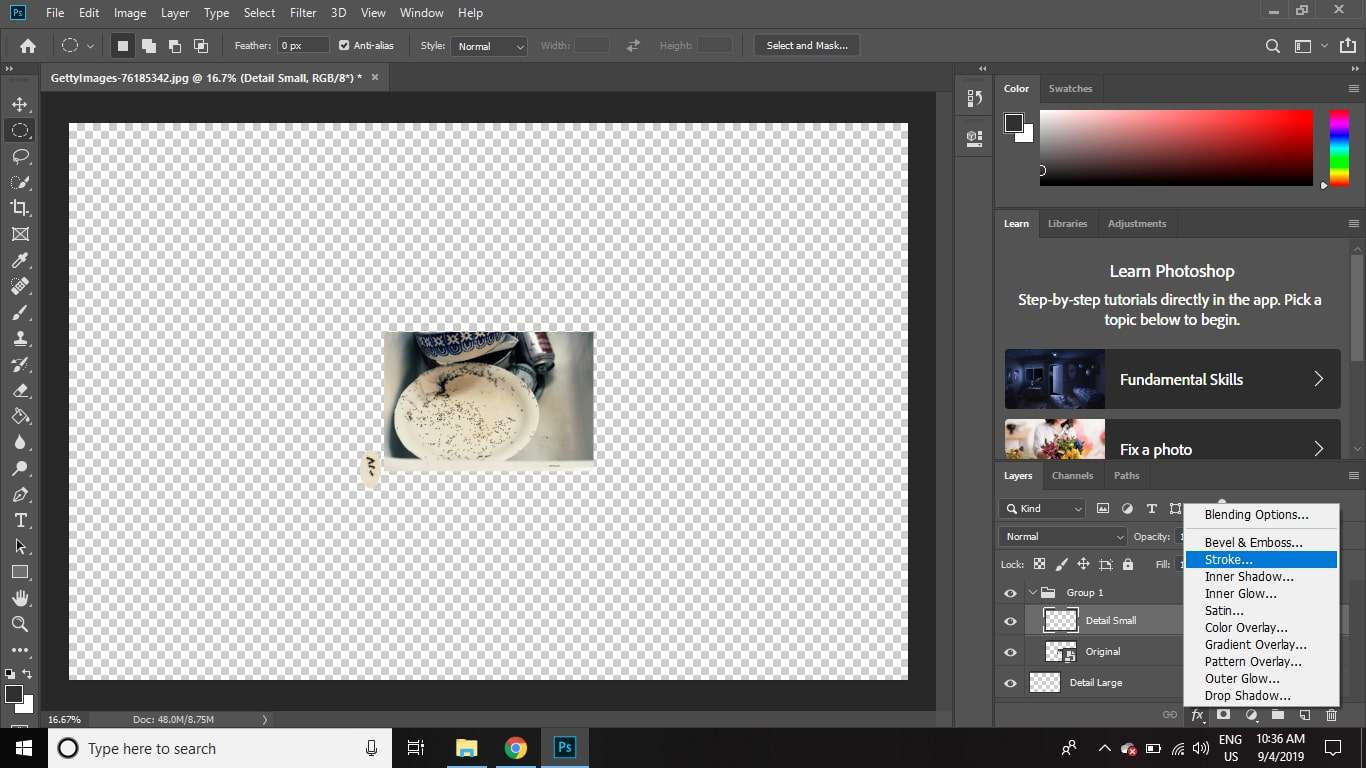 Creating a Magnified Cutaway Detail View in Photoshop