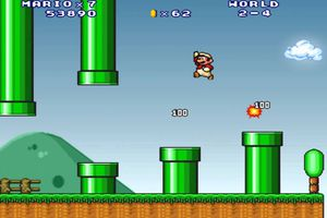 Gameplay of Super Mario Forever