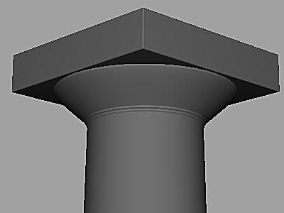 Greek column progress.