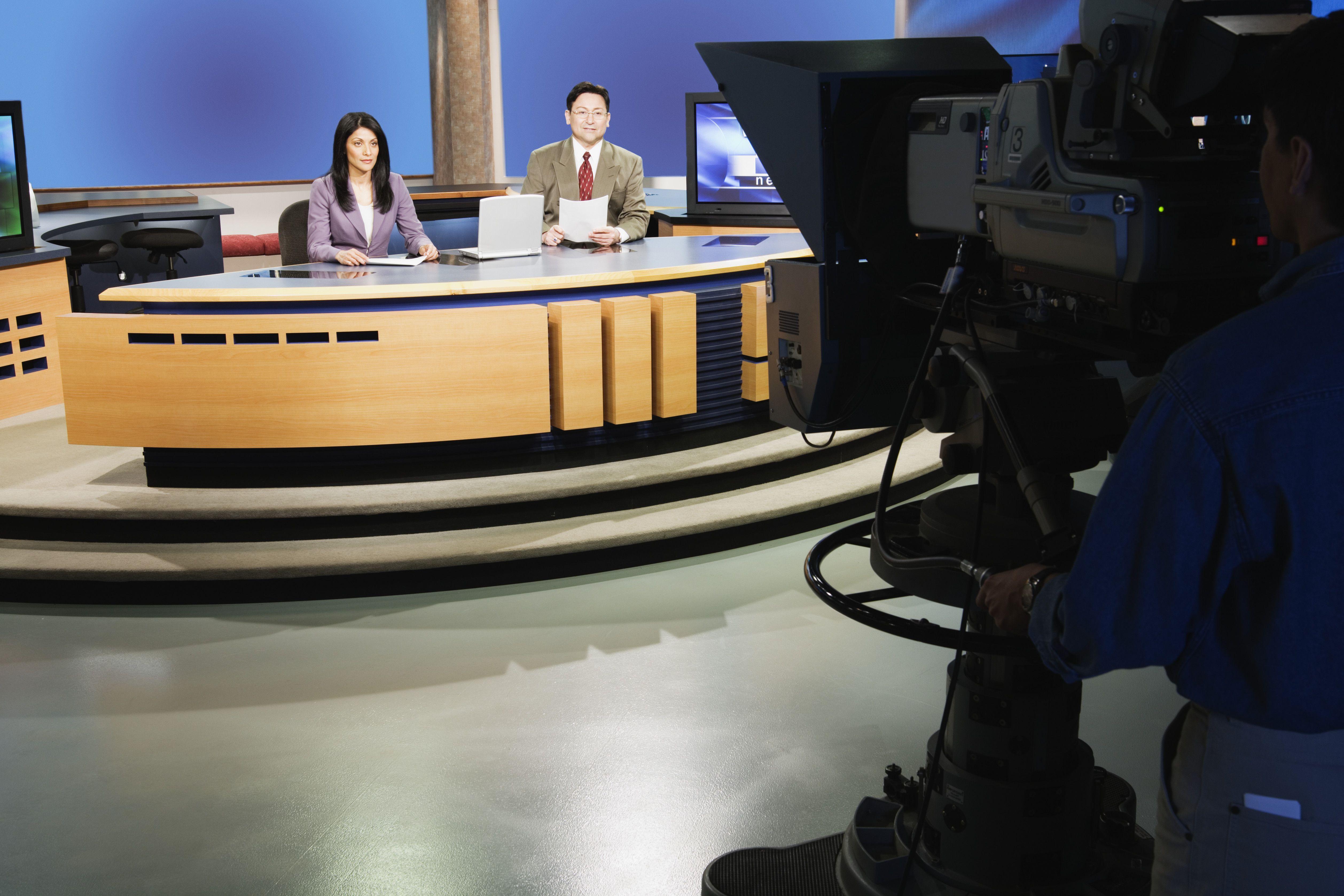 A local broadcast television studio