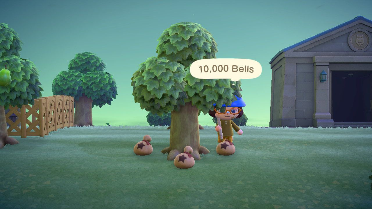 A Bell tree in Animal Crossing.
