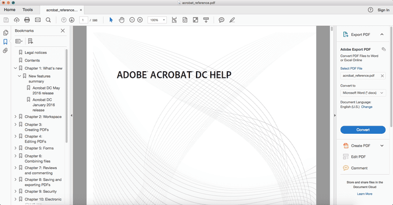 Pdf To Word How To Convert A Pdf To Word Adobe Acrobat Dc >> How To Copy Images Or Text From A Pdf File