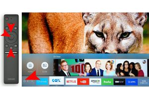 Samsung Smart TV Home Page with One Remote
