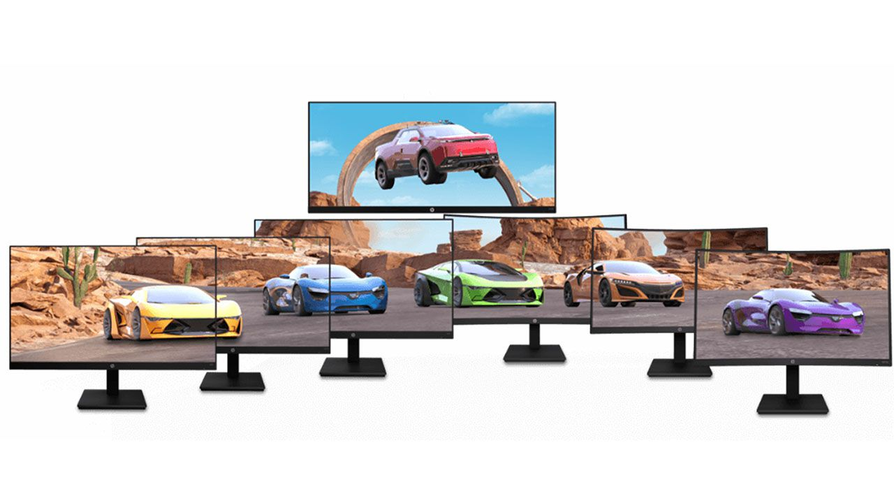 The new lineup of HP's X-series gaming monitors
