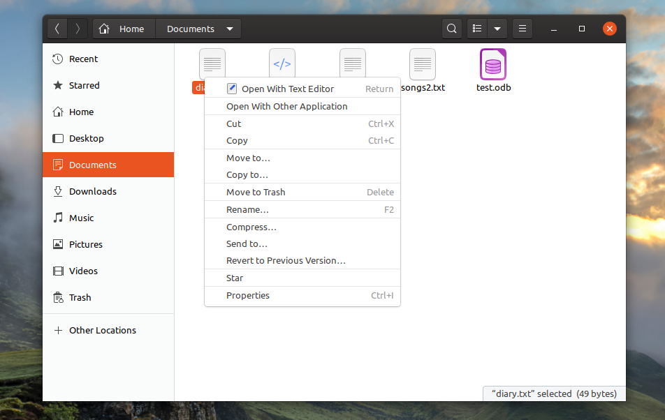 Delete file in ubuntu