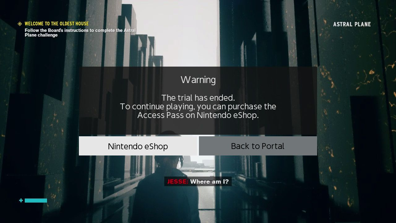 A screenshot from the Nintendo Switch.