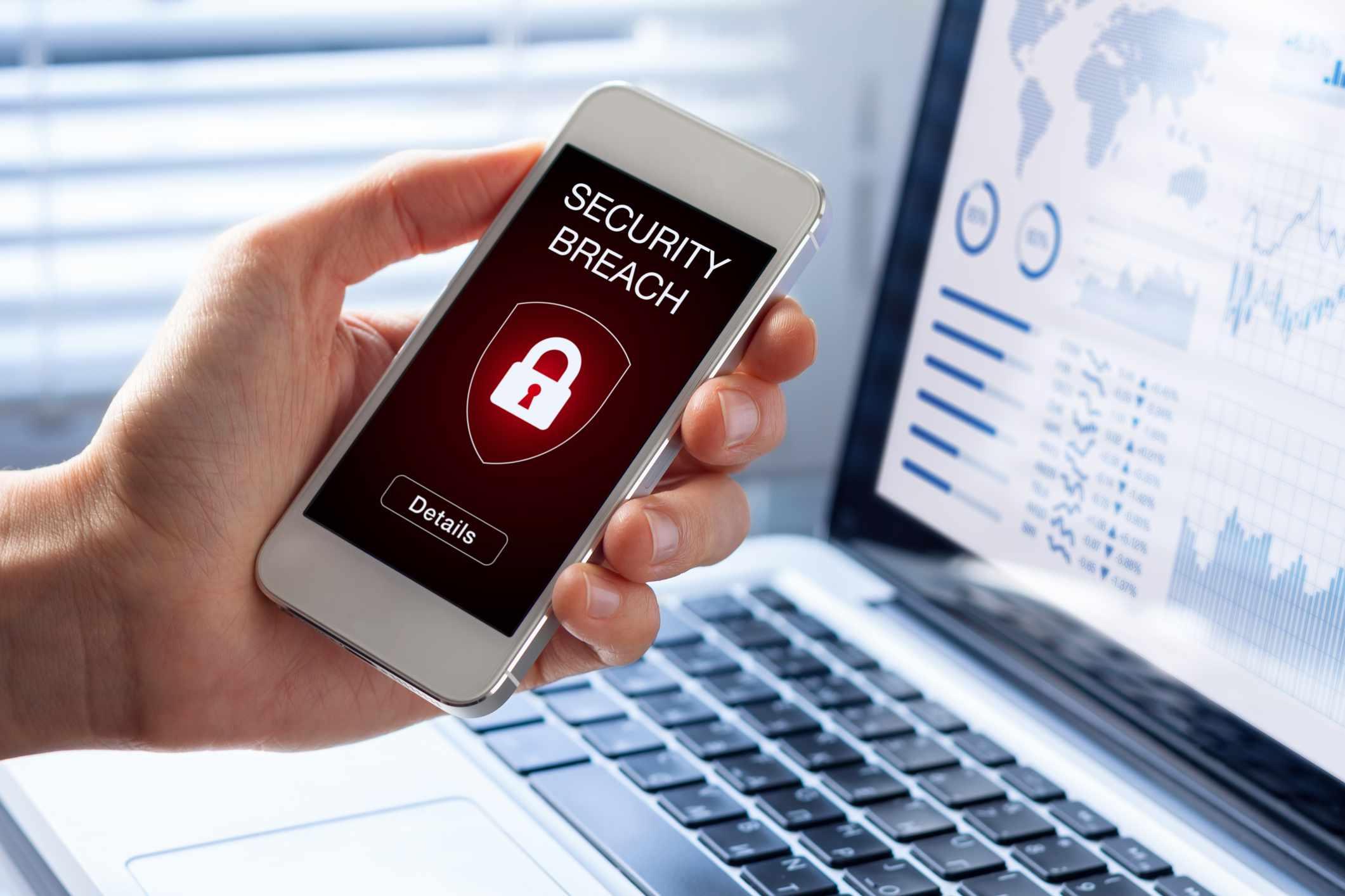 Security breach on phone screen