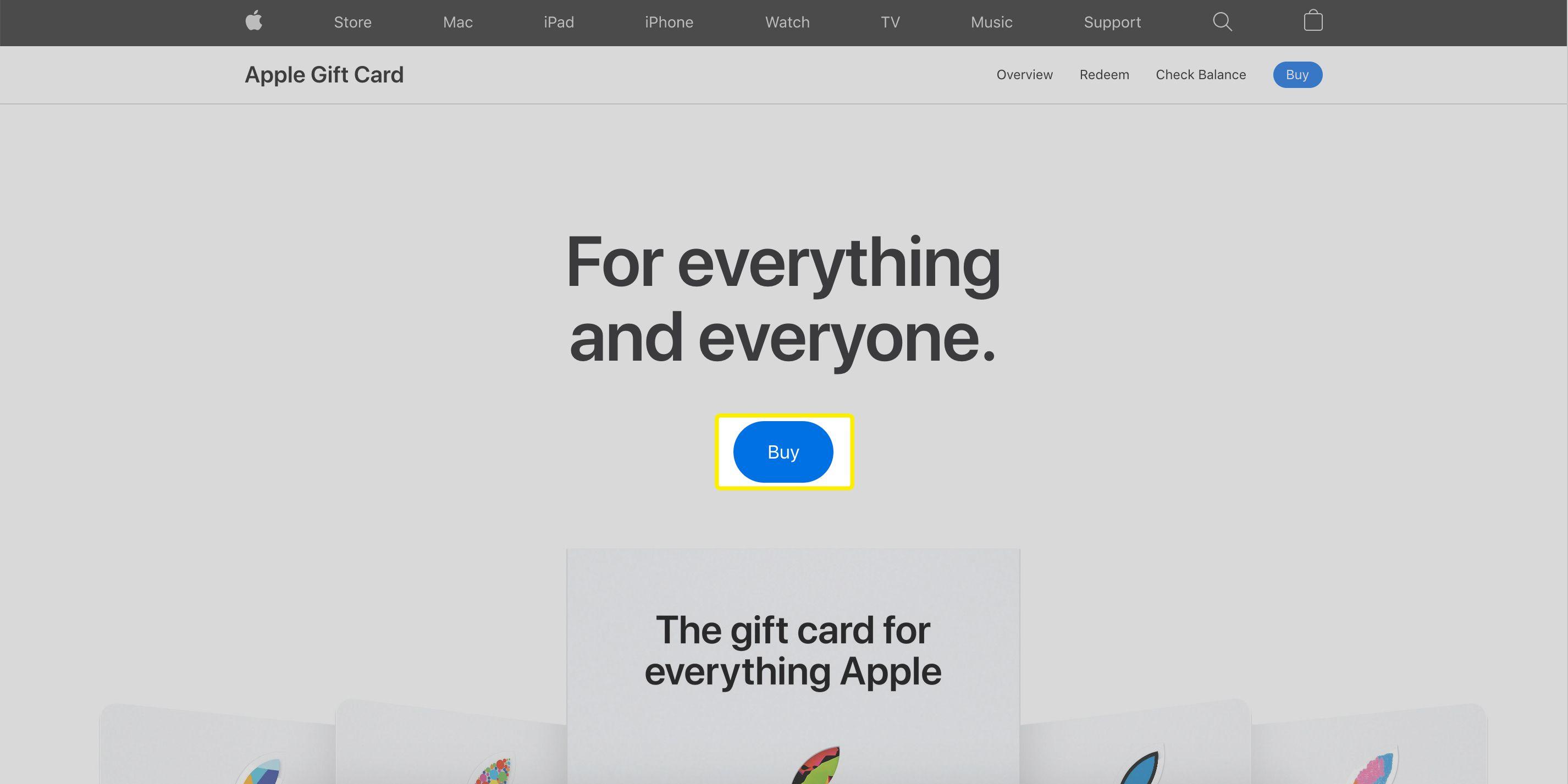 Apple Gift Card buy