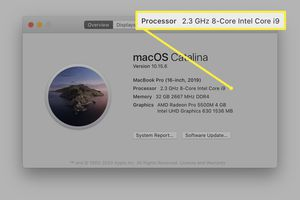 About This Mac window displays the speed of your processor.