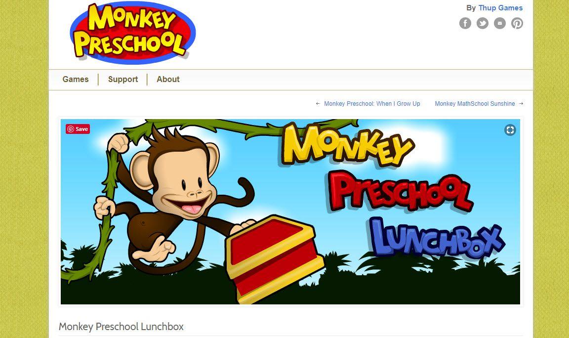 The Monkey Preschool Lunchbox website.